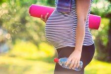 Femme enceinte, sport, bien-être