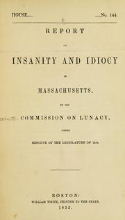 Insanity and idiocy in Massachusetts